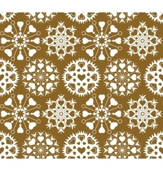 Christmas seamless pattern of heart view vector