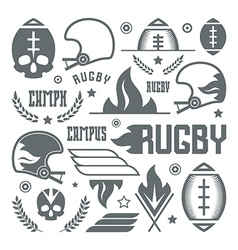 College rugby team badges vector