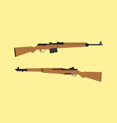 compare vs versus between usa america m1 garand vector image