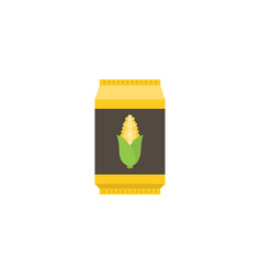 Corn starch in paper package flat design icon vector