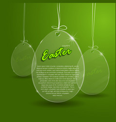 Easter egg glass vector