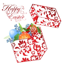 easter holiday gift box vector image vector image