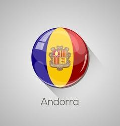 European flags set - Andorra vector image vector image