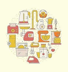 House appliances concept vector