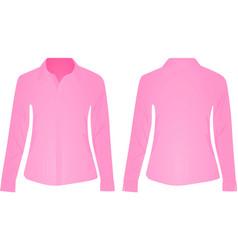 pink women shirt vector image