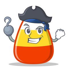 Pirate candy corn character cartoon vector