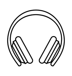 Protective headphones icon outline style vector