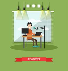 radio presenter concept in vector image vector image