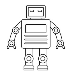 Robot with a square head icon outline style vector