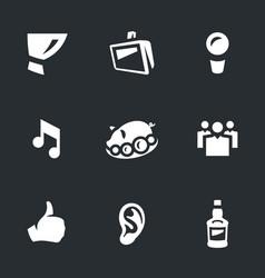 set of karaoke club icons vector image