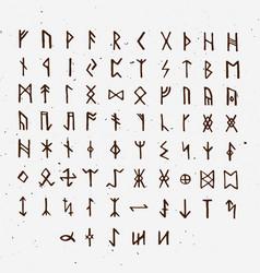 Set of old norse scandinavian runes runic vector