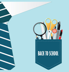 shirt of back to school conceptual with office vector image vector image