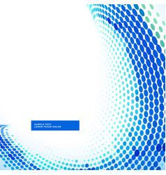 Stylish blue halftone wave background vector