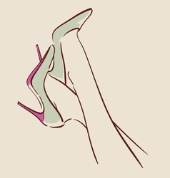 woman wearing beautiful shoes eps 10 vector image vector image