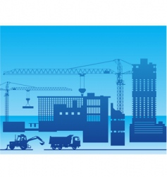 construction of a factory vector image
