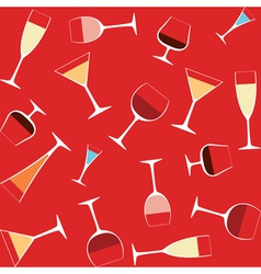 alcohol in glasses vector image