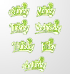 Decorative text days vector