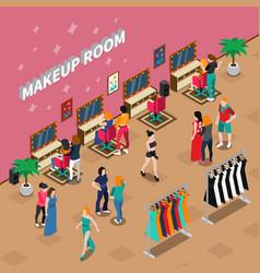 Makeup room fashion isometric vector