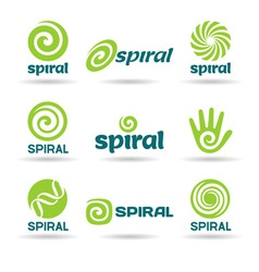 Set of spirals vector