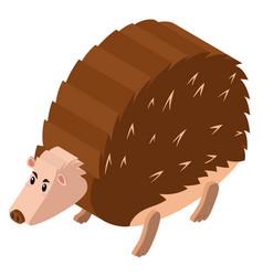 3d design for porcupine vector