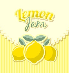 Lemon jam label vector