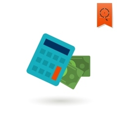 Calculator and money vector