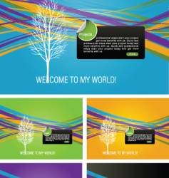 abstract graphic designs vector image