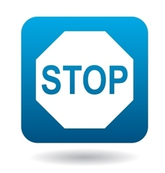 Stop sign icon simple style vector