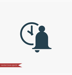 Bell icon education vector
