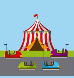 Carnival fun fair festival circus park vector