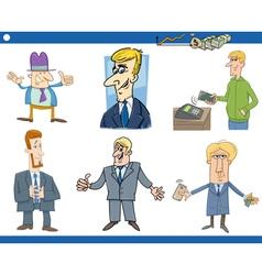Cartoon set of businessmen vector