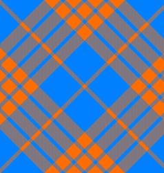 Clan tartan diagonal seamless pattern orange and vector