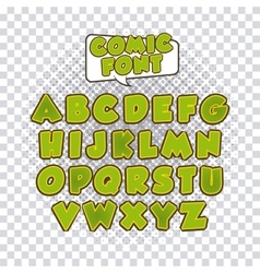 comic font alphabet pop art vector image vector image