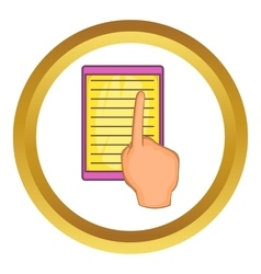 E-book and hand icon vector