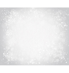Gray canvas background with snowflakes vector