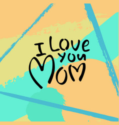 greeting card with mothers day vector image vector image