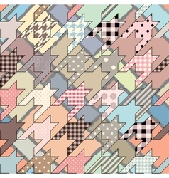 Hounds-tooth geometric background vector
