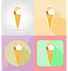 ice cream flat icons 08 vector image vector image