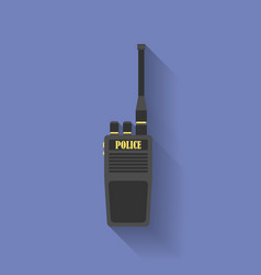 Icon of Police radio Flat style vector image