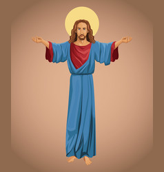 jesus christ religious faith image vector image
