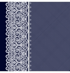 Lace Decorative Background vector image vector image