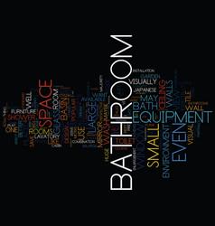 london bathroom fitters bathroom visual vector image vector image