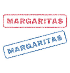 Margaritas textile stamps vector