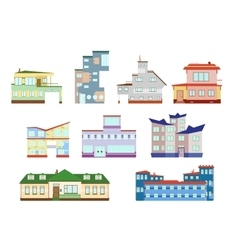modern houses set vector image vector image