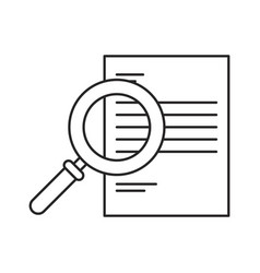 monochrome silhouette of magnifying glass search vector image