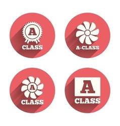 Premium level award icons A-class ventilation vector image vector image