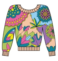 Pullover colorful vector