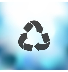 Recycle sign icon on blurred background vector