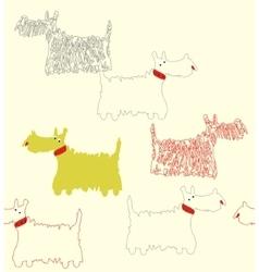 Scotch terrier white vector