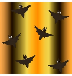 seamless background for halloween with bats vector image